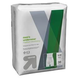 UFM Men's 36-count Disposable Boxer Briefs - Black - Size: M