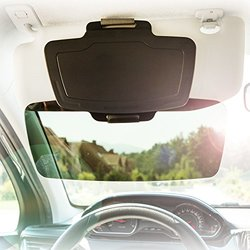 Sun Visor Extender - Front & Side Window Sun Shield, 100% UV Protection, Auto Anti-Glare, Clear View, Largest Cover Range - Extends Any Angle, Fits all Cars & Trucks, By SUNSET