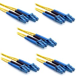 5-Pack - CableRack 2 Meter LC/LC Duplex 9/125 Single Mode Fiber Patch Cable