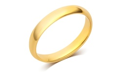 3mm Plain Band in 10K Yellow Gold by L'Artiste - Size: 7