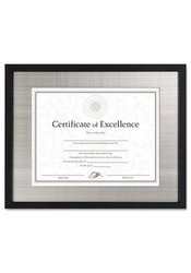 "DAX Document/Certificate Frame - Silver Metal - 11 x 14"" - Black - 4Pack"