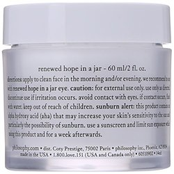Philosophy Renewed Hope In A Jar Moisturizer for Unisex - 2 Ounce