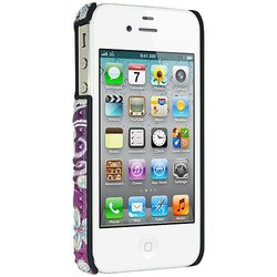 Amzer 3D Metallic Snap On Case Cover for iPhone 4 and iPhone 4S - Retail Packaging - Love