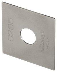 Mitutoyo Steel Square Gage Block, ASME Grade AS-1, 6.0 mm Length
