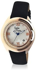 Sophie And Freda Ladies Watch: Sf1005 Belize -  Black Band/white Dial