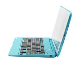 FOME®Ultra Slim Wireless Bluetooth Keyboard Cover Case with Stand for iPad Mini (Blue)