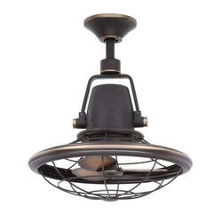 """Bentley II 18.9"""" Outdoor Oscillating Ceiling Fan - Tarnished Bronze"""