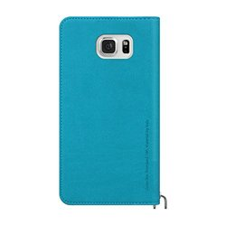 ARAREE Canvas Diary for Galaxy Note 5 Cell Phone Case for Samsung Galaxy Note 5 - Retail Packaging - Aqua Blue