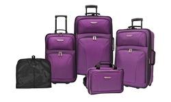 Travelers Choice Versatile Luggage Set 5-Piece - Purple