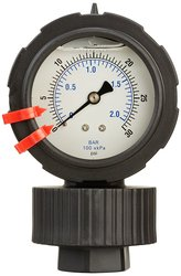 PIC Gauge Dry Filled Bottom Mount Pressure Gauge 0/60 Psi Range
