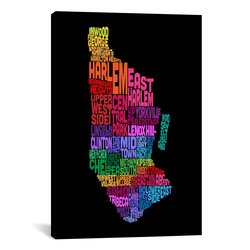 "iCanvasART Map by Michael Tompsett Canvas Art Print - Size: 26""x18"""