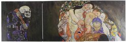"""36""""x12"""" 3-Piece Canvas Art - Death & Life by Gustav Klimt"""