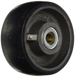 "Rwm Casters Urethane on Iron Wheel with Roller Bearing - Size: 6""x2 1/2"""