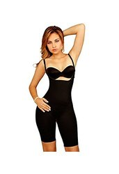Vedette 104 Men's Stephanie Full Body Shaper - Black - Size: XL