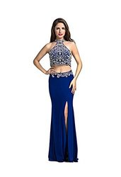 Lucys Prom Women's 2 Piece Evening Dress - Dark Royal Blue - Size: 2