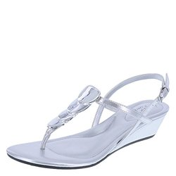 Dexflex Comfort Women's Yorkshire Mid Wedge Sling - Silver - Size: 7.5