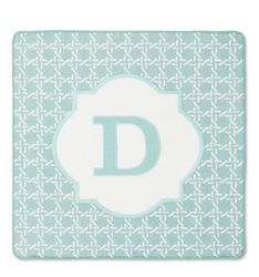 "Threshold Monogram ""D"" Pillow Cover - Aqua - Size: 18"" x 18"""