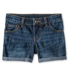 Cherokee Girls Jeans Short - Dark Medium Blue - Size: S(6/6X)