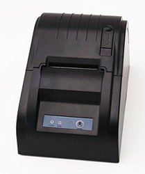 Smart&Cool  SC-5890T USB POS Printer with 58mm Thermal Paper Rolls - 90mm/sec High-speed Printing (Black)