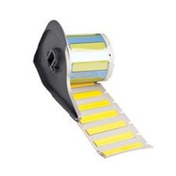 """Brady M71-250-175-342YL BMP71 PermaSleeve Wire Marker Sleeves, 0.439"""" Height, 1.765"""" Width, Polyolefin (B-342) Yellow (Roll of 100)"""