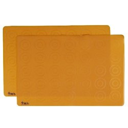 ZoLi Matties 2-Pack Silicone Placemats Orange