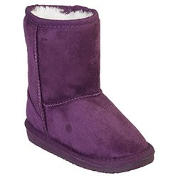 Toddler Microfiber Sheepdawgs Boots: Plum/size 4-5