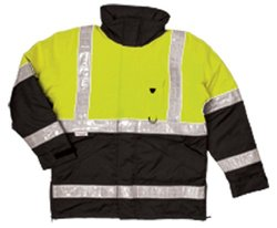 ML Kishigo JS110 Polyester Parka HIgh-Viz Jacket - Lime - Size: 4X-Large