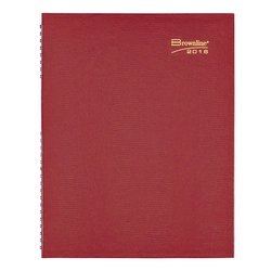 "Brownline 2016 Coilpro Weekly Planner - 11"" x 8.5"" - Bright Red"