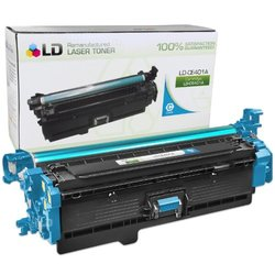 LD  Remanufactured Replacement for HP CE401A / 507A Cyan Laser Toner Cartridge for HP LaserJet Enterprise 500 Color M551dn, M551n, M551xh, MFP M575dn, MFP M575f, and MFP M575c