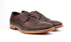 Vincent Cavallo Men's Cap Toe Dress Shoes - Dark Brown - Size: 9