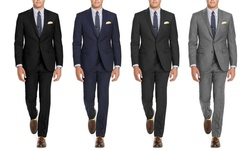 Renoir Men's Classic Fit Suits: Light Grey/42rx36w