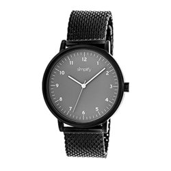 Simplify Men's Watches The 3200 Collection: 3206/black Band-grey Dial