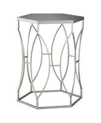 Threshold Wire Metal Accent Side Table - Silver