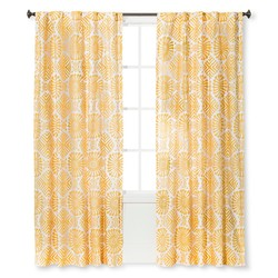 "Sabrina Soto 54""x84"" Kuna Curtain Panel - Yellow/White"