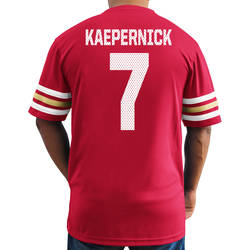 NFL Men's San Francisco 49Ers Kaepernick Jersey - Red Multi - Size: 2XL