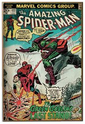 "Marvel Comics 13"" x 19"" Spiderman vs Green Goblin Printed Wood Wall Sign"