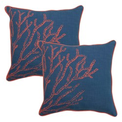 """Threshold 18"""" Outdoor Toss Pillow - Coral"""