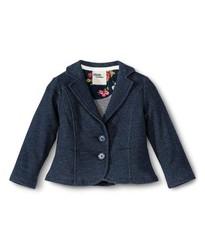 Oshkosh Toddler Girls' Fitted Blazer - Denim Heather - Size: 18M