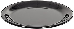 "Carlisle 3300603 Sierrus Narrow Rim Melamine Salad Plates, 7.25"", Black (Pack of 48)"