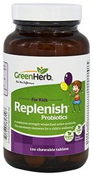 Green Herb - Replenish Probiotics For Kids - 120 Chewable Tablets