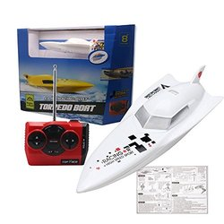 BestForever 27Mhz High Speed Remoto Radio Control Electric Racing Boat Toys RC Boat Toys (White)