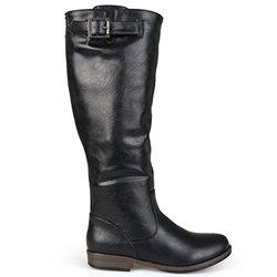 Brinley Co Women's Joani Riding Boot, Black, 8.5 M US