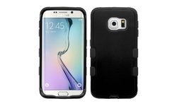 eForCity Insten Silicone Case for Samsung Galaxy S6 Edge - Black (2107579)