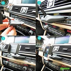 Ipow Universal CD Slot Smartphone Car Mount Cradle Holder - Black