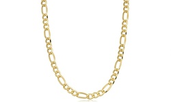 14K Yellow Gold Filled Figaro Link Chain Necklace 18 inch
