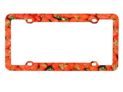Valor Auto Companion License Plate Frame Strawberry Design (LPF6M032)