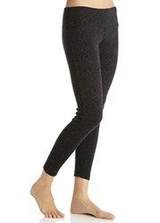 Marika Jacquard Long Legging: Black/Small