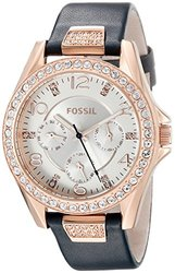 Fossil Women's Riley Watch- Black/Gold