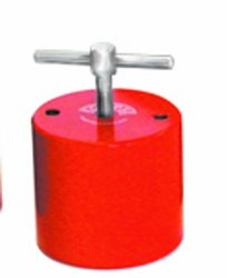 "Eclipse Magnetics E941 Magnetic Holdfast, Round Shape, 194 lb. Pull Capacity, 2.76"" Diameter x 2.5"" Height, Fixing Holes PCD 2"""