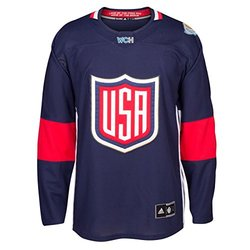 USA World Cup of Hockey 2016 Adidas Men's Premier Jersey (Small)